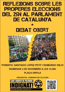 Reflexions sobre les properes eleccions del #25N al Parlament de Catalunya + Debat obert