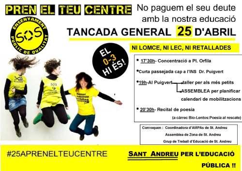 cartell tancada St Andreu + convocants