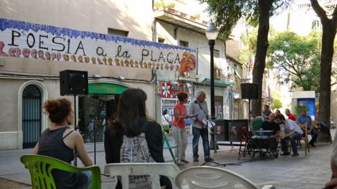Equip de so en Poesia a la Plaça